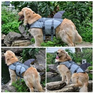NWT Large Shark Life Jacket For Dogs